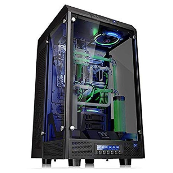 The Tower 900/Black/Win/SGCC/Tempered Glass