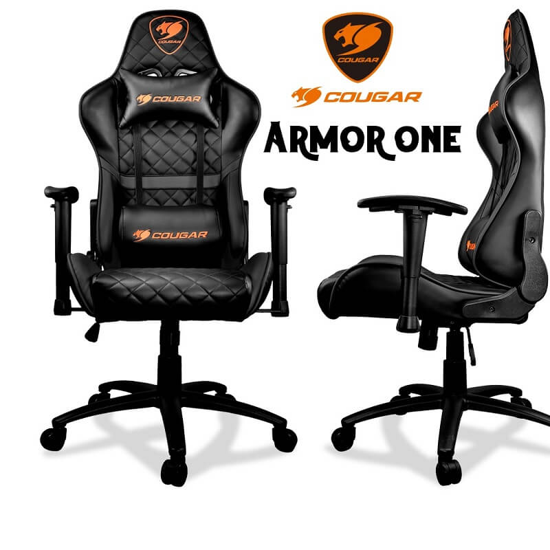 Cougar Armor One Black Gaming Chair -Black | CGR-ARMOR-ONE-BLK