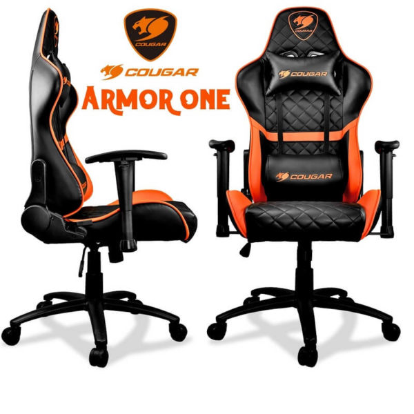 COUGAR ARMOR ONE BLACK/ORANGE  GAMING CHAIR | CGR-ARMOR-ONE-ORANGE/BLACK