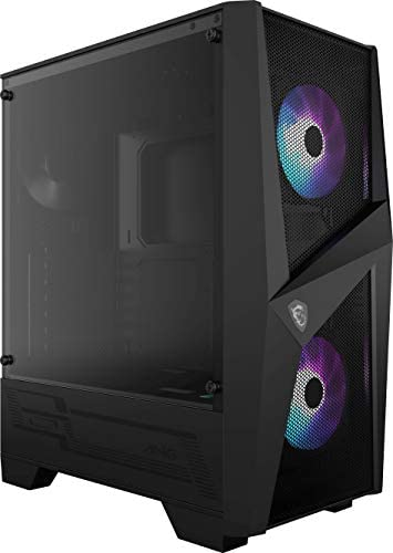 MSI MAG Forge 100R Mid Tower With ARGB Fan Gaming Case, 240mm Radiator Compatibility - Black | 306-7G03R21-809