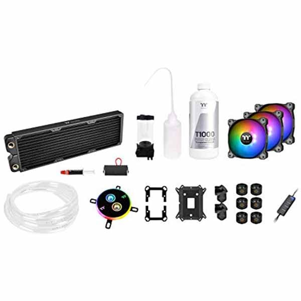 Pacific C360 DDC Hard Tube Liquid Cooling Kit/DIY LCS/Copper Radiator C360/ARGB 120Fan*3/Transparent coolant