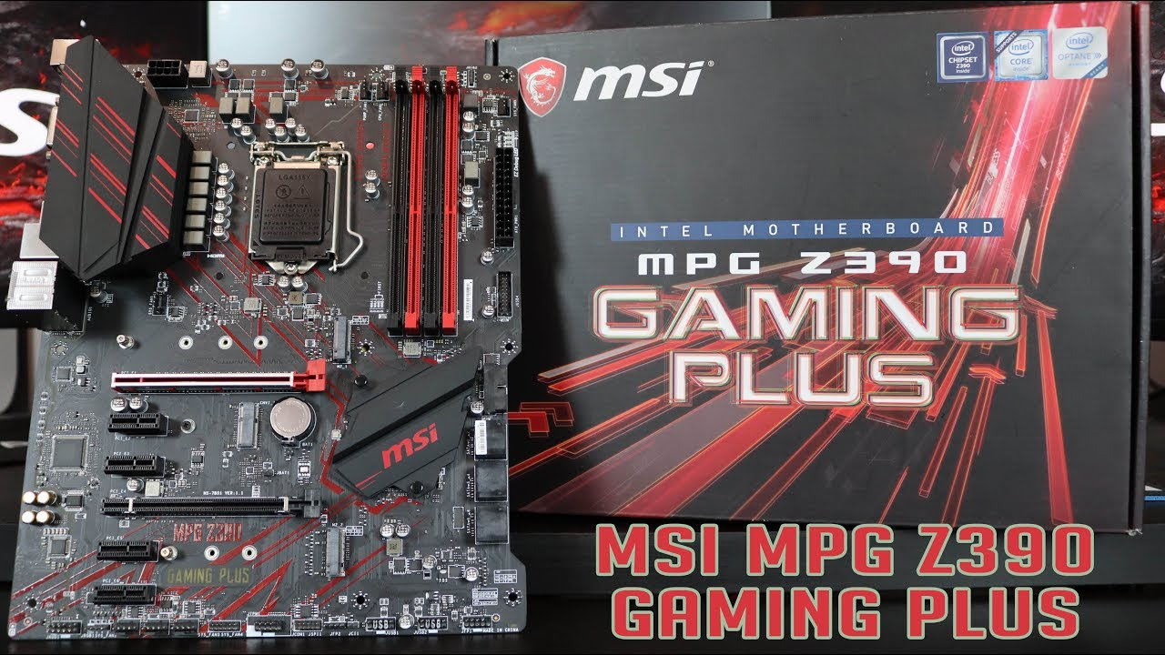 MSI MOTHERBOARD MPG Z390 GAMING PLUS