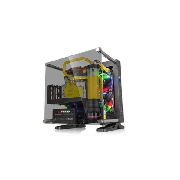 Core P1 TG/Black/Wall Mount/SGCC/Tempered Glass