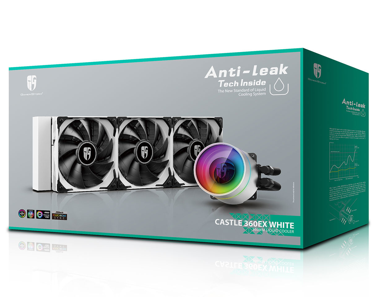 GAMER STORM  ANTI- LEAK CASTLE 360EX WHITE 360MM LIQUID COOLER